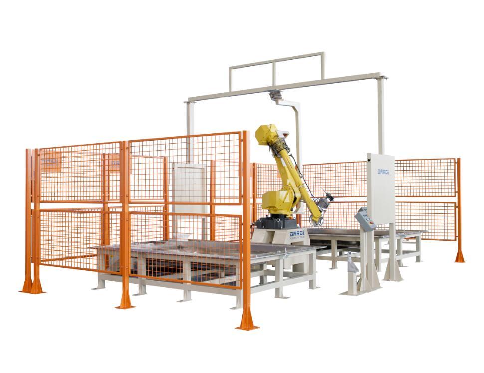 立式单机器人固定双工位水切割系统